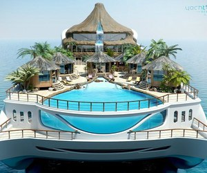 yacht, summer, and luxury image