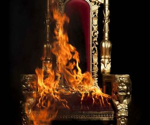 fire, throne, and aesthetic image