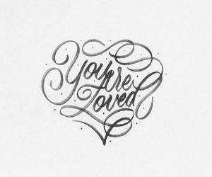 calligraphy, heart, and lettering image