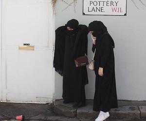 black, hijab, and muslim image
