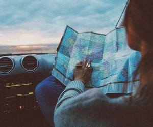 car, map, and drive image