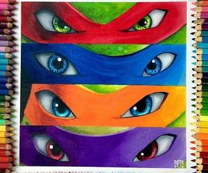 draw, ninja, and tortuga image