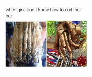 curls, hair, and memes image