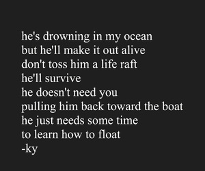 black and white, drown, and drowning image