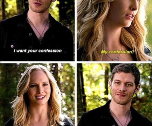 the vampire diaries, caroline forbes, and klaus mikaelson image