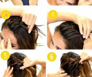 hair, tutorial, and braid image