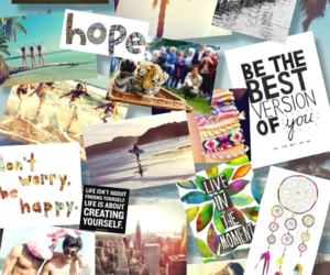 beach, summer, and Collage image
