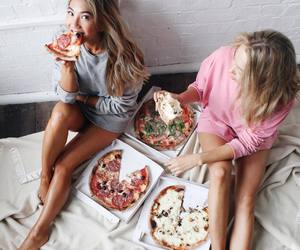 food, pizza, and friends image