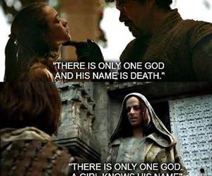 arya stark, game of thrones, and jaqen h'ghar image