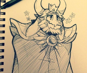 undertale and asgore image