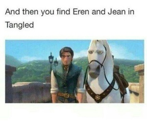 jean, tangled, and attack on titan image