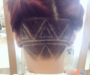 hairstyle, nape, and undercut image