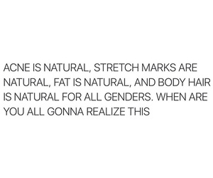 acne, beautiful, and body hair image