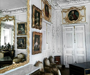 white, gold, and interior image
