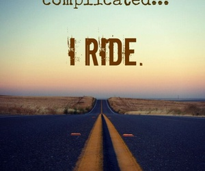 life, quote, and ride image