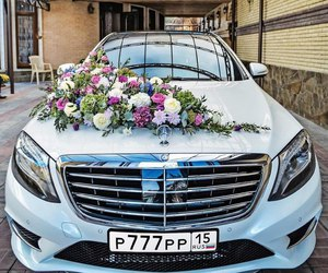 flowers and car image