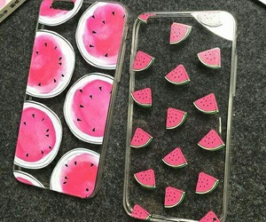 apple, case, and watermelon image