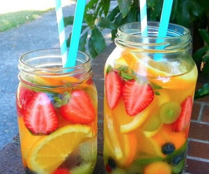 drink, sweet, and fruit image
