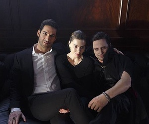 lauren german, tom ellis, and chloe decker image