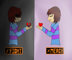 fight, heart, and chara image