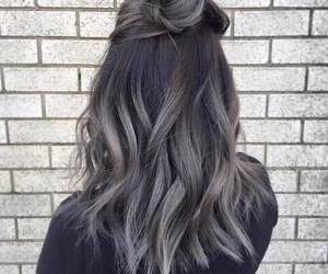 beauty, gray, and hairstyle image