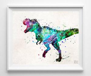 baby room, baby gift, and dinosaur art image