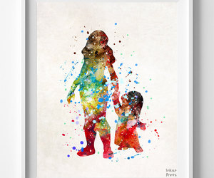 illustration art, disney watercolor, and baby gift image