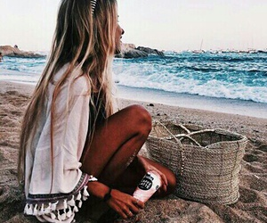 beach, photography, and beauty image