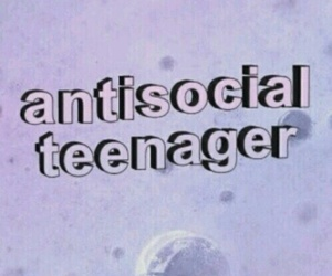 antisocial, teenager, and grunge image