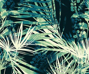 green, palms, and wallpaper image