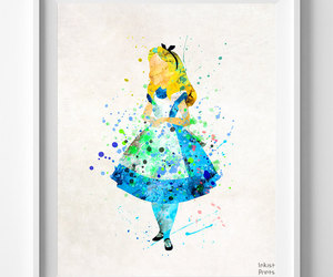 alice in wonderland, art prints, and anniversary gifts image
