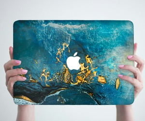 apple, blue, and macbook image