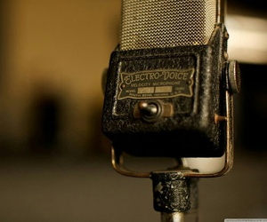 microphone, vintage, and music image