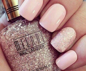 manicure, sparkles, and nails image