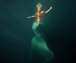 mermaid, sea, and fantasy image