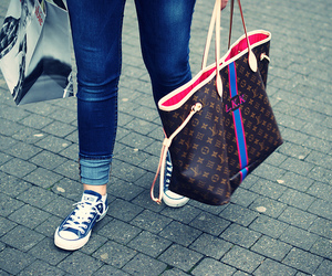 Louis Vuitton, bag, and brown image