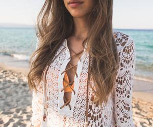 beach, bikini, and dress image