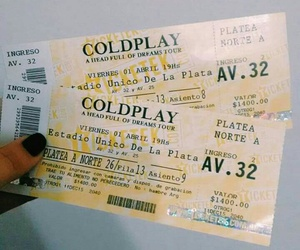 argentina, coldplay, and tour image