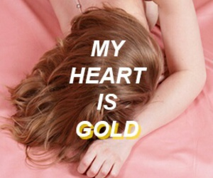 gasoline, gold, and heart image