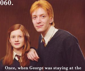harry potter, ginny, and george image