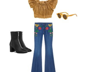 70's, bell bottoms, and outfit image
