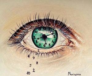 eye, time, and drawing image