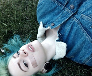 blue hair, tumblr, and girl image