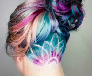 colors, girly, and hair image