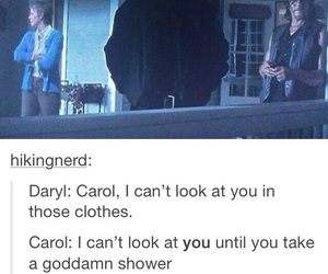 funny, tumblr, and twd image