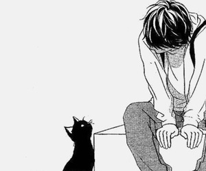 alone, art, and cat image