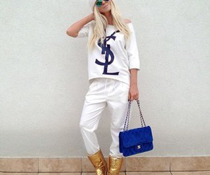 fashion, blonde, and chanel image