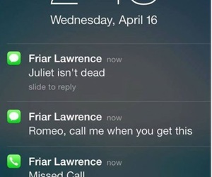 Late, romeo and juliet, and send image