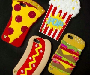 iphone, pizza, and food image