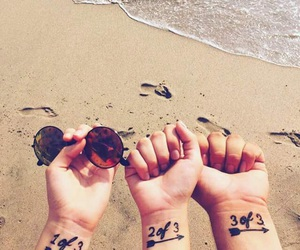 best friends, bff, and tattoo image